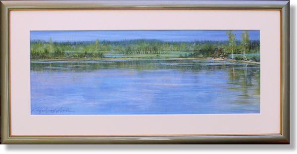 石井清・白樺の湖(アート・複製画)