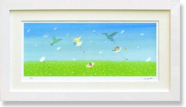 絵画 版画 葉祥明・はちそうの夢の花園 インテリア
