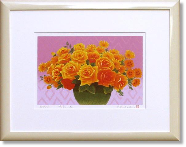 吉岡浩太郎・黄色の花 (絵画・版画)