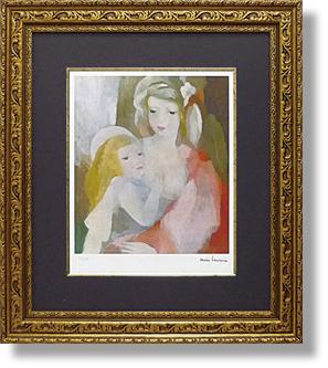 絵画 インテリア ローランサン・母と子(絵画・版画)