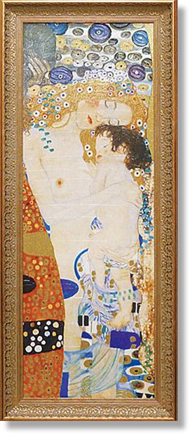 クリムト・母と子(アート・複製画)