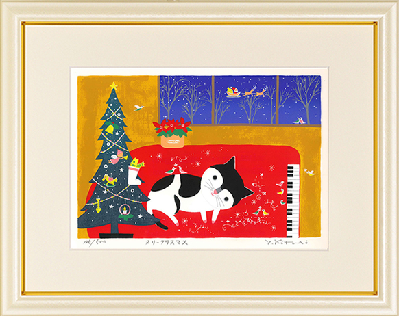 吉岡浩太郎・メリークリスマス(絵画・版画)