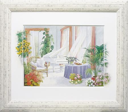 ピーターモッツ・ホワイトピアノ(アート・複製画)