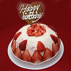いちごヨーグルトアイスケーキ 【お誕生日・お誕生日アイスケーキ】 いちごアイス イチゴのアイス