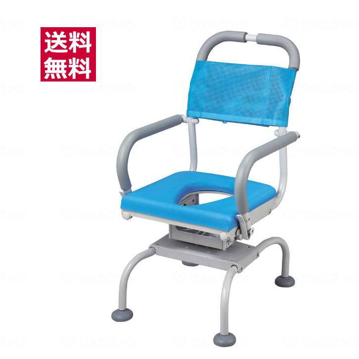シャワーキャリー くるくるベンチD(O型シート)ウチエ 入浴用車椅子 ブルー O型座面 360度座面回転 【送料無料】 【メーカー直送品】取寄せ【代金引換決済不可】【返品交換不可】