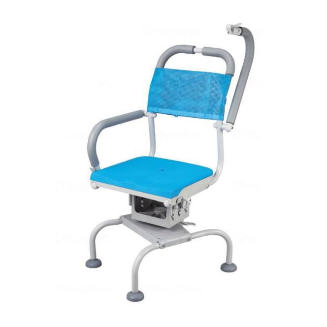 シャワーキャリー くるくるベンチD(穴無しシート)ウチエ 入浴用車椅子 ブルー KRU-316 360度座面回転 【送料無料】 【メーカー直送品】