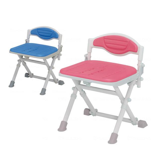 【折り畳み式風呂椅子】湯チェア16 肘なしタイプ 腰ガード付き UC-116/UC-126 (ウチエ) レッド/ブルー 折り畳み可能 【送料無料】