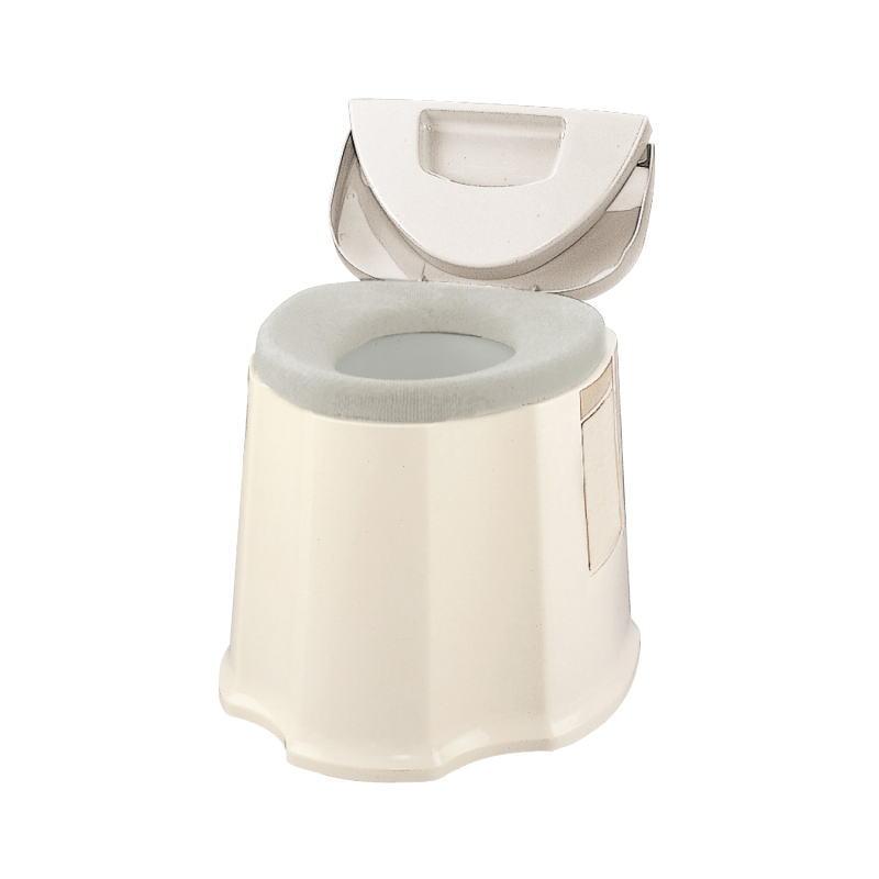 安寿 ポータブルトイレ GX 533-093 (アロン化成)※コンパクトタイプ 防臭消耗品・O型便座カバー付き 組立済み配送【送料無料】