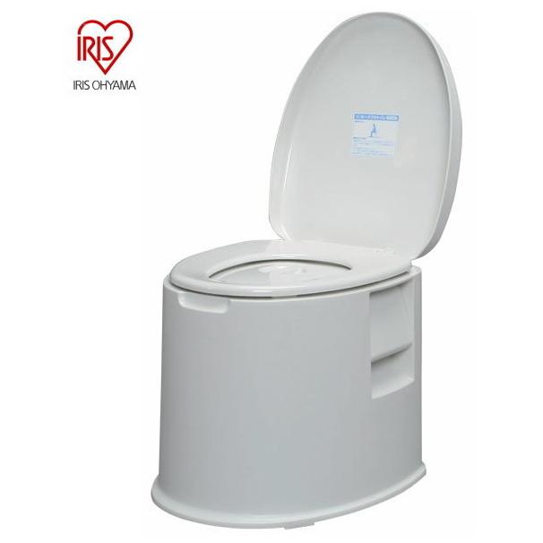 ポータブルトイレ (TP-420V) アイリスオーヤマ ホワイト 組立済み 小物入れ・トイレっとペーパーホルダー付き