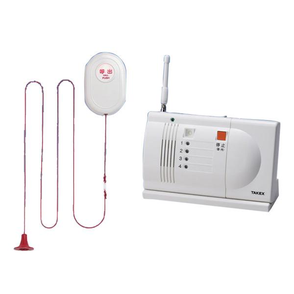 【送料無料】ワイヤレス緊急呼出しセット 卓上型受信機セット EC-B(T)【トイレ・浴室用】【竹中エンジニアリング】