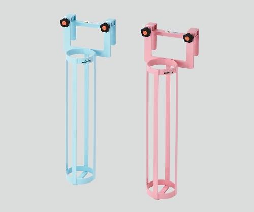【送料無料】ナビス 酸素ボンベラック (ベッド用) ピンク 0-2396-02