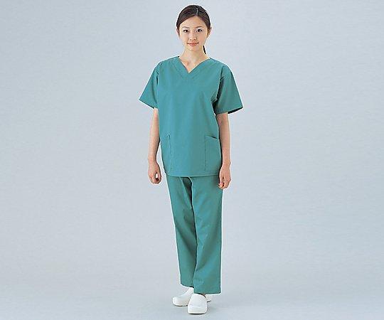 ナガイレーベン 手術衣 (男女兼用上衣) グリーン M 8-8802-02