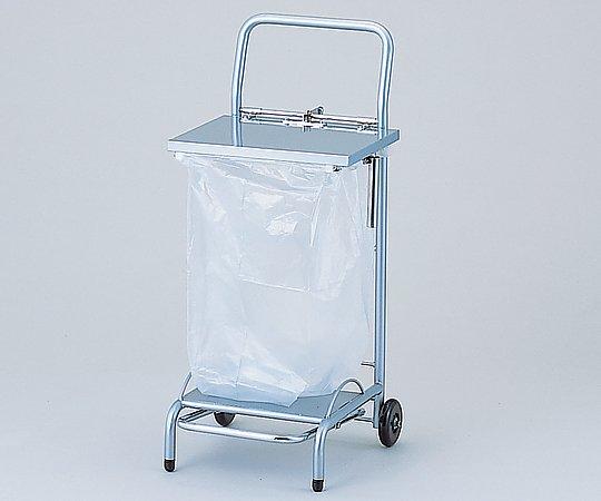 【送料無料】ナビス ゴミ袋スタンド(フタ付) NFG-1 シルバー ※ゴミ袋別売 8-8851-01