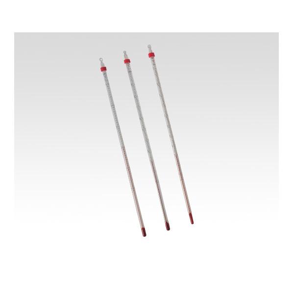 アズワン 赤液棒状温度計 1-610-11【温度管理・温度測定・棒状温度計・透明ケース】【AS ONE】【理化学】
