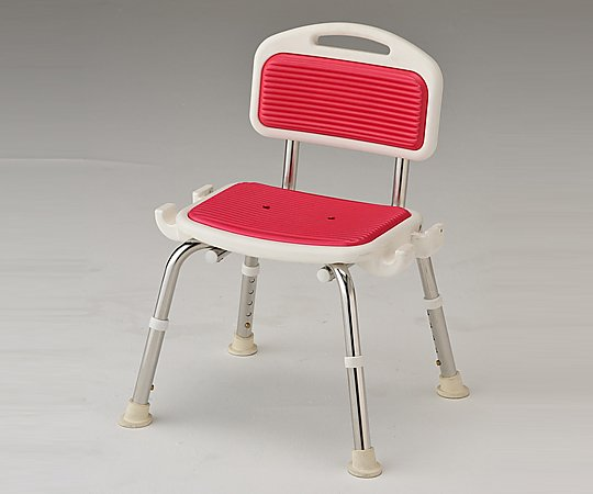 【送料無料】【直送の為、代引き不可】ナビス 業務用シャワー椅子 (肘無し/レッド) 8-2332-04