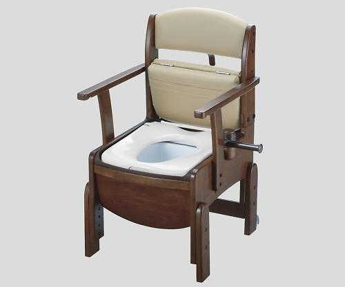 【送料無料】【直送の為、代引き不可】リッチェル 木製トイレ(きらく コンパクト) 普通便座 8-4350-11