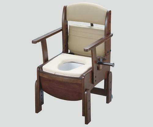 【送料無料】【直送の為、代引き不可】リッチェル 木製トイレ(きらく コンパクト) やわらか便座 8-4350-12