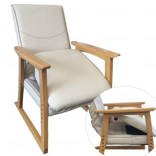 【送料無料】楽たて~る2 アイボリー ノベルテ【高齢者用椅子・楽に立てる椅子・立ち上がりやすい椅子・施設用チェア・高齢者用椅子】