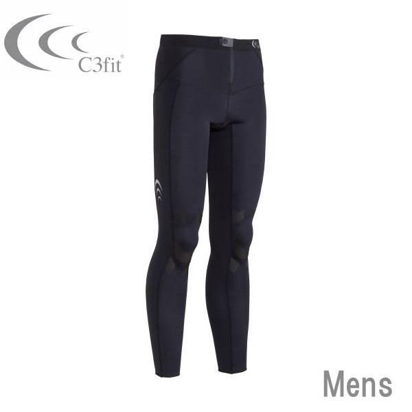 【送料無料】C3fit エレメントエアーロングタイツ ブラック メンズ【C3fitタイツ ロングタイプ・C3fit サポートタイツ・C3FIT・スポーツ用タイツ ロング・コンプレッションタイツ】