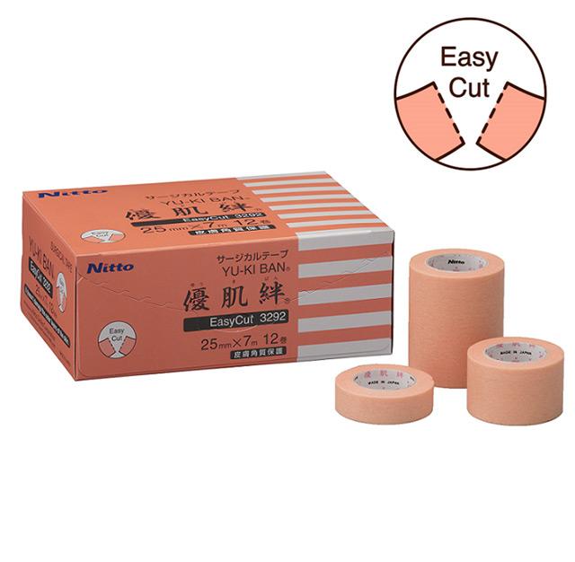 切れ目あり 優肌絆不織布にミシン目を入れ カットしやすく 角質剥離の少ないゲル粘着剤を用いることにより はがすときの痛みや肌への負担を抑えた低刺激性のサージカルテープ Easy Cut 優肌絆不織布 肌 人気海外一番 ゆうきばん EasyCut サージカルテープ 目立ちにくい ベージュ テープ まつ毛エクステ 角質保護テープ 剥離防止テープ 粘着テープ 『4年保証』 不織布テープ ミシン目 人工透析 まつエク 皮膚保護テープ 医療用テープ