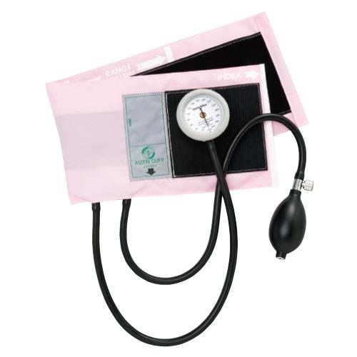 【送料無料】ギヤフリーアネロイド血圧計 02-5790-04 ピンク【医療・介護用品・医療・救急・衛生用品・血圧計】