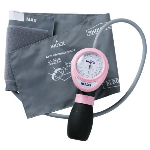 【送料無料】アネロイド血圧計(ワンハンド型) 23-5468-01 ピンク【医療・介護用品・医療・救急・衛生用品・血圧計】