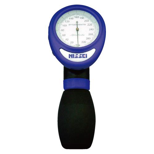 【送料無料】アネロイド血圧計(ワンハンド型) 23-5468-02 ブルー【医療・介護用品・医療・救急・衛生用品・血圧計】