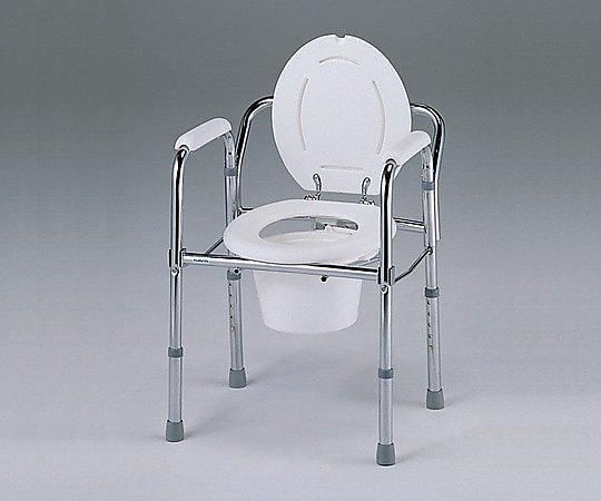 【送料無料】便器椅子(折りたたみ式) 530×460×660~760mm 0-667-01【看護・医療・介護・介護用品・排泄ケア用品・便器椅子】