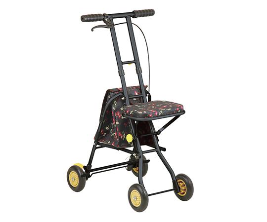 【送料無料】幸和製作所 プチカ フラワーブラック 7-2296-02【車いす用クッション・車椅子用クッション・車いす専用クッション】