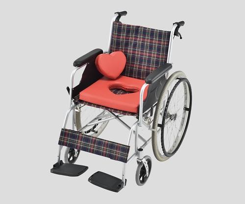 【送料無料】ナビス 車いすハートクッション オレンジ 8-6452-01【車椅子用クッション・車いす用クッション・車イス用クッション】