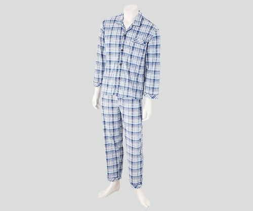 【送料無料】ナビス 入院セット 男性用パジャマ M 8-9064-02【院内用パジャマ・入院用パジャマ・男性用パジャマ】