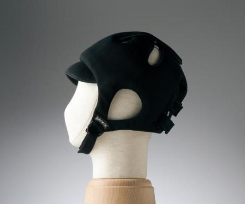 【送料無料】特殊衣料 保護帽(アボネットガードC) 普通サイズ ブラック 8-6511-04【衝撃吸収・通気性・弾力性・介護・医療・看護用機器】