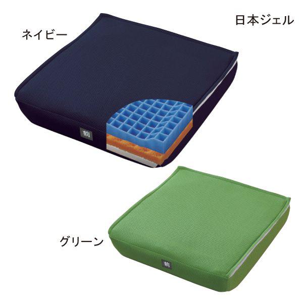【送料無料】(日本ジェル)ピタ・シートクッション P80(ネイビー/グリーン)(約40cm×約40cm、厚さ約8cm)【ポイント10倍セール実施中!】10P03Dec16