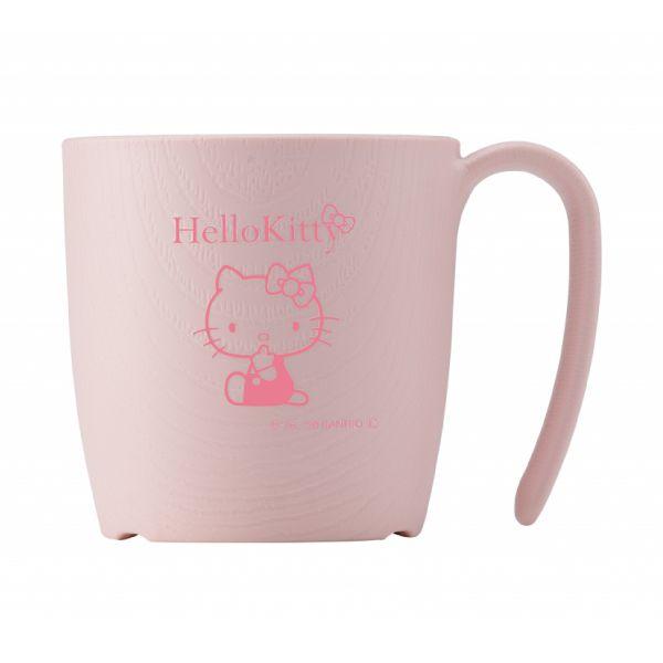 手が不自由な方でも持てるハンドル付き 品質保証 ウェルファン スケーター 木目 ピンク 百貨店 ハローキティ もちやすいコップ