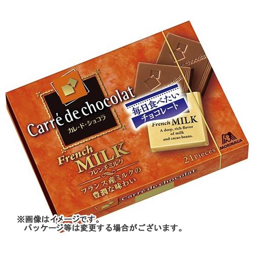 【送料込・まとめ買い×72個セット】森永製菓 カレ・ド・ショコラ フレンチミルク 21枚入