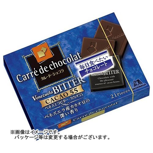 【送料込・まとめ買い×72個セット】森永製菓 カレ・ド・ショコラ ベネゼエラビター 21枚入