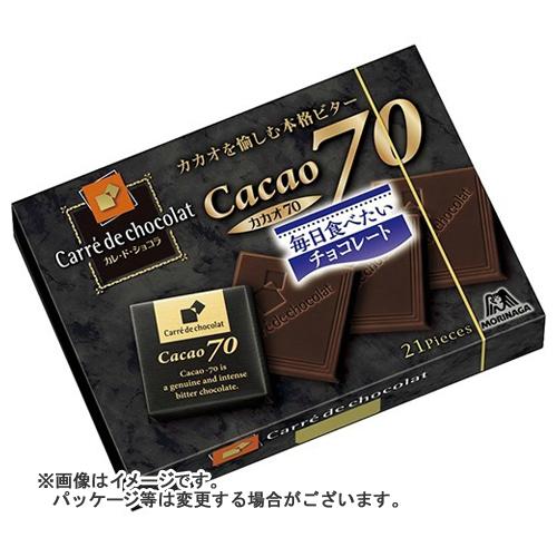 【送料込・まとめ買い×72個セット】森永製菓 カレ・ド・ショコラ (カカオ70)21枚入