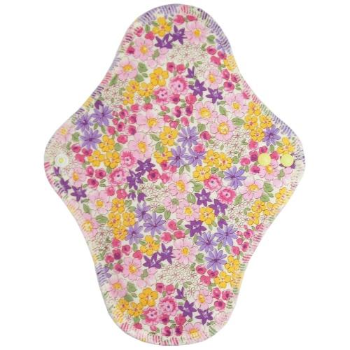 【送料無料・まとめ買い×9個セット】fuwako 幸せの布ナプキン 昼用 ブロード 花紫