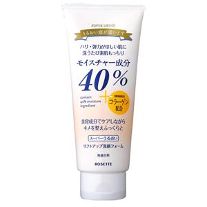 スーパーうるおい リフトアップ洗顔フォーム もっちりタイプの植物性洗顔フォーム。40%のモイスチャー成分に、天然マリンコラーゲンをプラスして、ハリ・弾力のある肌へ。 【あわせ買い2999円以上で送料無料】ロゼット R40% スーパーうるおいリフトアップ洗顔フォーム 168g もっちりタイプの植物性洗顔フォーム スズランのやさしい香り 【4901696532591】
