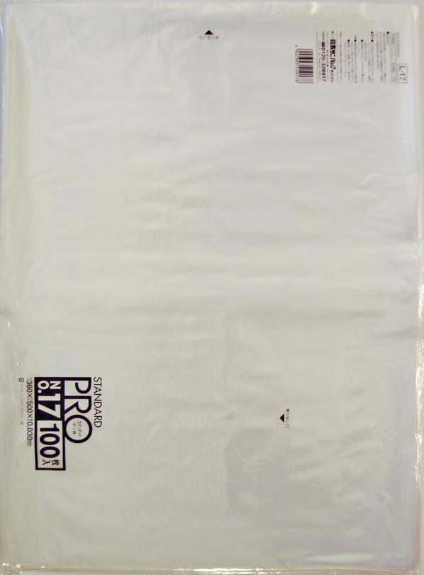 【送料無料】【ケース販売】【ゴミ袋】【日本サニパック】規格袋 17号 L-17 透明 0.030mm 100枚×15冊