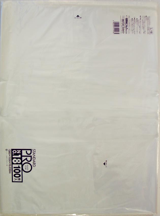 【送料無料】【ケース販売】【ゴミ袋】【日本サニパック】規格袋 18号 L-18 透明 0.030mm 100枚×15冊