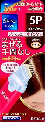 Kracie Simpro 一次触摸无香味的头发颜色 5 p 80 g