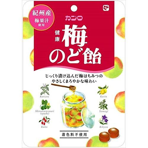 【送料込】 カンロ 健康 梅のど飴×48個セット (4901351036525)