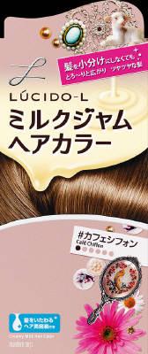 毛染め 髪にとろ~りと広がりキレイに染まるヘアカラー おしゃれ染め 女性用です のびがいいので 髪全体に素早く広がり 内側の髪までムラなくなじみます あわせ買い2999円以上で送料無料 ミルクジャムヘアカラー ※ヘアーカラー 特売 ヘアケア特売 ルシードエル 女性用 マンダム 商店 4902806234299 カフェシフォン