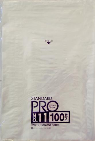 【送料無料】【ケース販売】【ゴミ袋】【日本サニパック】規格袋 11号 L-11 透明 0.030mm 100枚×30冊