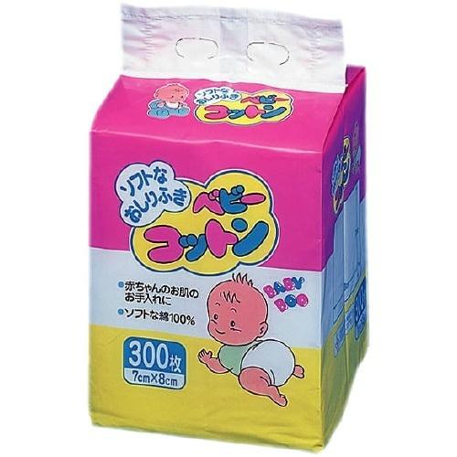 【送料込・まとめ買い×48個セット】川本産業 ベビーブー ベビーコットン 300枚入