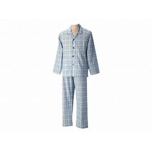 グンゼ 長袖パジャマ(紳士セット)春夏用ブルー M