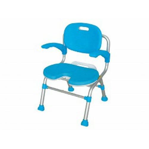 幸和製作所 折りたたみシャワーチェア テイコブSCU01(肘掛け付)ブルー U
