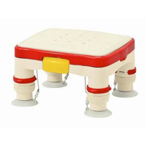 アロン化成 高さ調節付浴槽台R(ミニ滑り止めシート)レッド