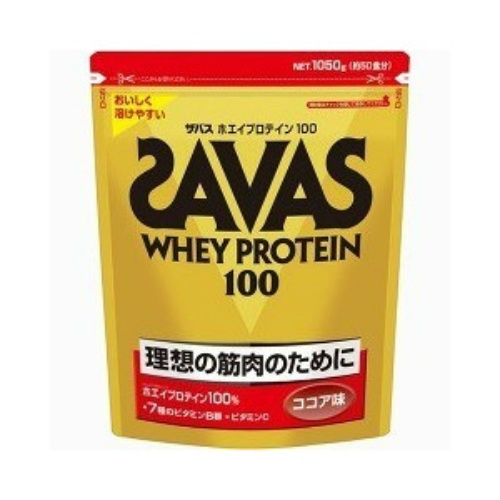 【送料無料】明治 ザバス SAVAS ホエイプロテイン 100ココア 1050g×6個セット